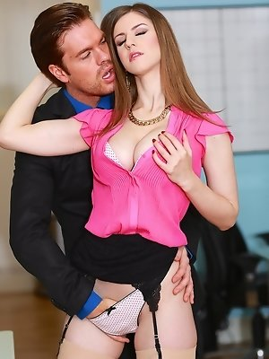 Busty Slut Stella Cox Gets Nailed by Her Boss
