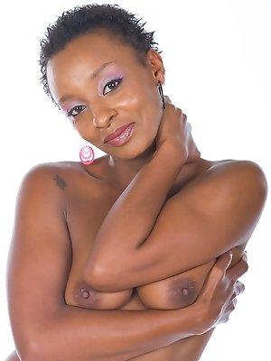 Ebony Babe Lala has an Interracial Threeway